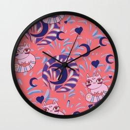 Moony kitty Wall Clock
