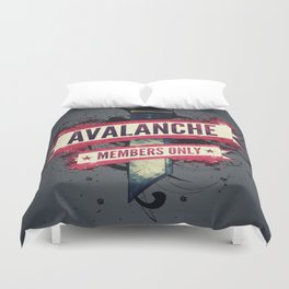 Final Fantasy VII - Avalanche Member's Only Duvet Cover