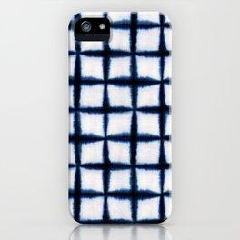 Shibori Squares iPhone Case