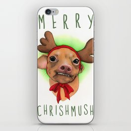 Chrismas Card - Merry Chrishmush  iPhone Skin