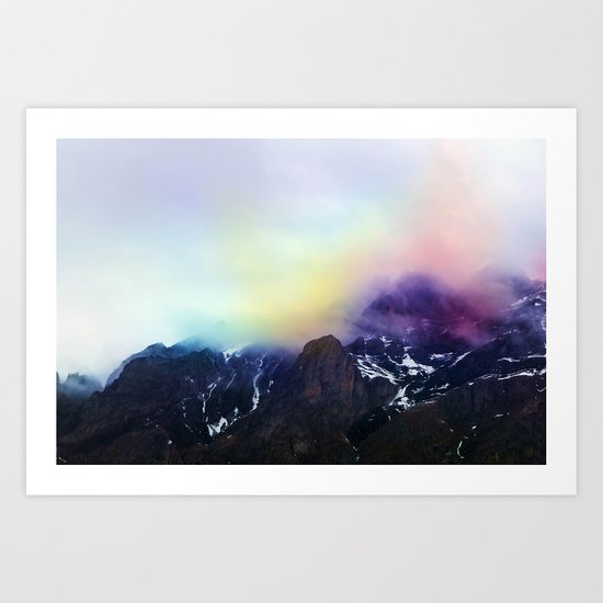 Mountain of Color Fog Art Print