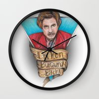 anchorman Wall Clocks featuring Anchorman by Tiffany London