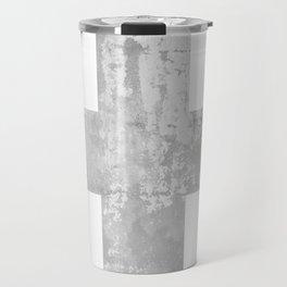 Concrete Swiss Cross Travel Mug