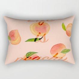 Life is peachy print Rectangular Pillow