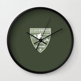 Ski Leavenworth Washington Wall Clock