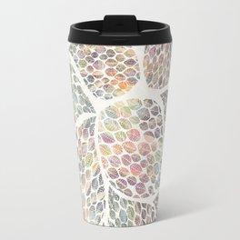 Soft Color Abstract Leaf Scatter Travel Mug