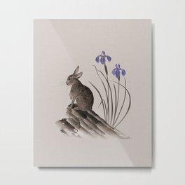 Spring Hare Metal Print