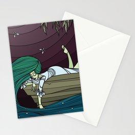 Wet Night, Fireflies Stationery Cards