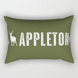 Deer: Appleton, Wisconsin Rectangular Pillow