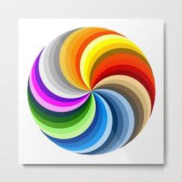 Ubuntu 36 Swirl Metal Print