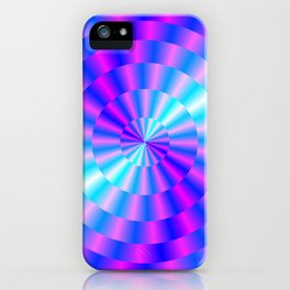 Spiral Rings in Pink and Blue iPhone Case