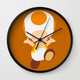 Orange Toad (Super Mario) Wall Clock