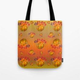 Fall Floral Squash Tote Bag