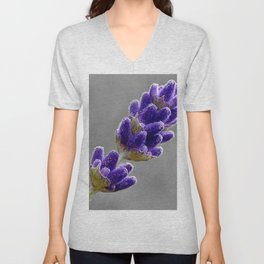 Lavender Photo Unisex V-Neck