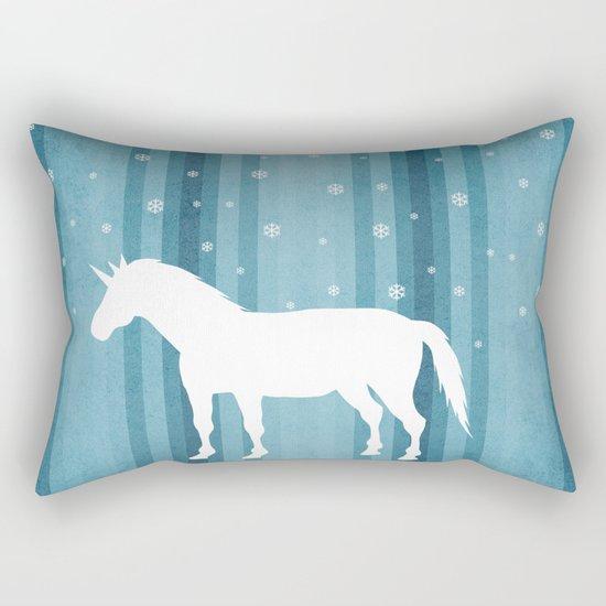 Winter Falls Unicorn Rectangular Pillow