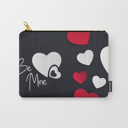 Valentine Hearts Background Carry-All Pouch