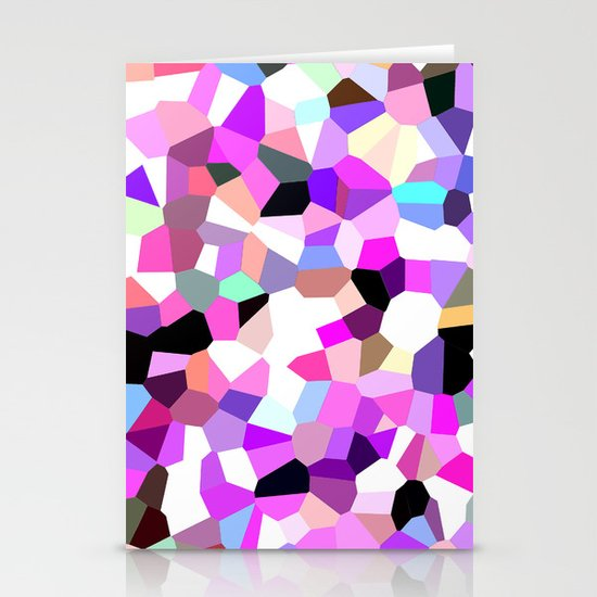 Modern Abstract Geometric Pattern Pink Teal Pastel  Stationery Cards