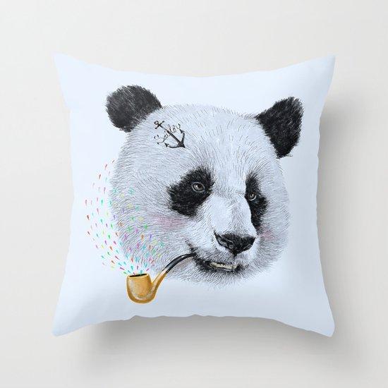 Panda Sailor Throw Pillow