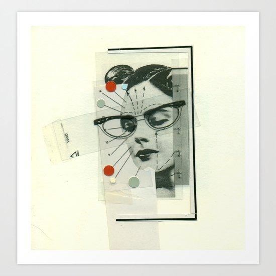 Girls Who Wear Glasses Art Print