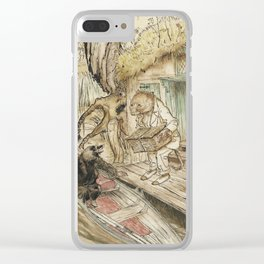 Arthur Rackham - The Wind in the Willows (1940) - Ratty and Mole by a Boat Clear iPhone Case