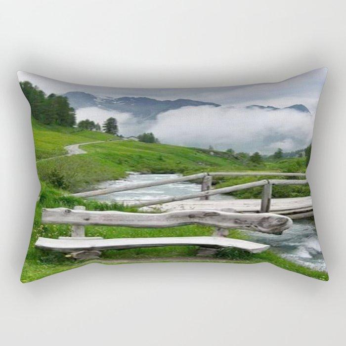 GREEN ART Rectangular Pillow