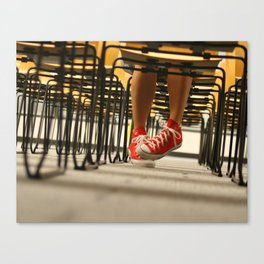 Red Chucks and Chairs Canvas Print