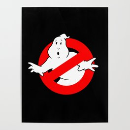 Ghostbusters Black Poster