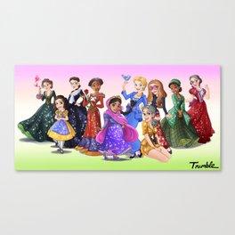 """Ten Real-World Princesses Who Don't Need Disney Glitter"" Trumble Cartoon Canvas Print"