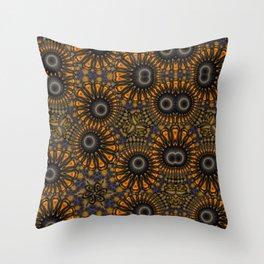 Staring eyes of weird mandalas Throw Pillow