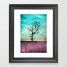ATMOSPHERIC TREE II Framed Art Print