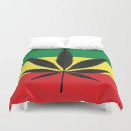 Marijuana leaf Duvet Cover