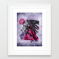 indian Framed Art Prints featuring Indian by Marlon Hammes