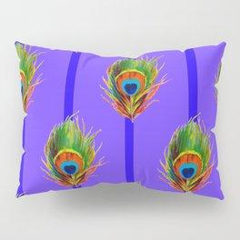 Decorative Contemporary  Peacock Feathers Art Pillow Sham