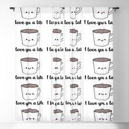 I Love You A Latte Blackout Curtain