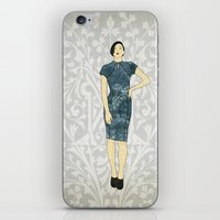 charmaine olivia iPhone & iPod Skins featuring Olivia by Aquamarine Studio