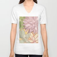 succulents V-neck T-shirts featuring Succulents by Julia Walters Illustration