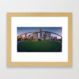 Pritzker pavilion Framed Art Print