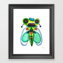 Dragonfly Moth Framed Art Print