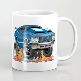 Classic Seventies American Muscle Car Hot Rod Cartoon Illustration Coffee Mug