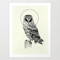 Owl Hours of the Night Art Print
