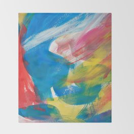Abstract Artwork Colourful #4 Throw Blanket