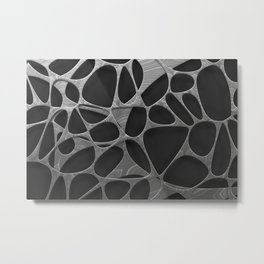 Metal on black, organic abstraction Metal Print