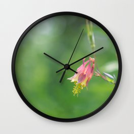 Columbine Bloom Wall Clock