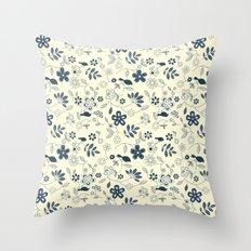 C13 birds n flowers Throw Pillow