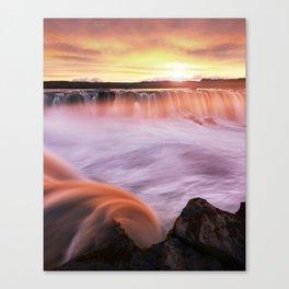 Selfoss sunset Canvas Print