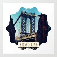 brooklyn Art Prints featuring BROOKLYN by Alexandre Ormond