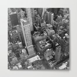 NYC from above black and white Metal Print