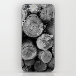 Pile of chopped firewood iPhone Skin