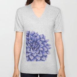 Big flower, purple chrysanthemum Unisex V-Neck