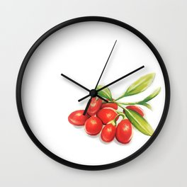 Group o' Goji berries Wall Clock